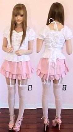 blouse dakota rose kotakoti kawaii kawaii outfit lolita cute cute outfits girly pink pastel pastel pink fashion white lace up skirt top shirt thigh highs garter belt high heels floral high heels