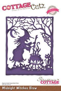 Cottage Cutz steel craft die Midnight Witch's Brew Halloween #CottageCutz