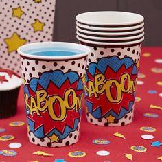 Cool Comic Paper Cups