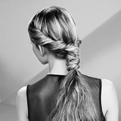 PONYTAIL WITH A TWIST   THE BEACHY WAVES TECHNIQUE IS A GREAT FOUNDATION FOR AN EFFORTLESS PONYTAIL WITH A WRAP AROUND TWIST.   karastase-usa.com