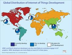 Global Distribution of Internet of Things Development