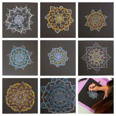 Nueve Pinceladas: Taller Mandalas  http://nuevepinceladas.blogspot.it/search/label/Taller%20Mandalas