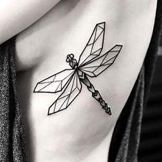 Geometric Dragonfly Tattoo Idea