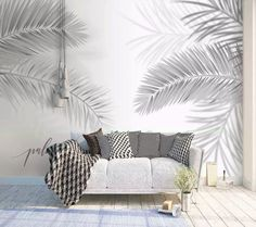 Dark Leaf Wallpaper Palm Leaves Wall Mural Tropical Home Decor Cafe Design Livin. - Dark Leaf Wallpaper Palm Leaves Wall Mural Tropical Home Decor Cafe Design Living Room Bedroom Entr - Gold Wallpaper Living Room, Wallpaper Wall, Palm Leaf Wallpaper, Trendy Wallpaper, Bedroom Wallpaper, Wallpaper Size, Café Design, Interior Design, Tapete Gold