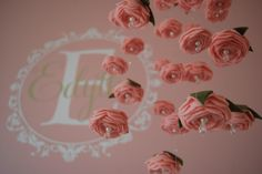 DIY Felt Rose Baby Mobile - what a gorgeous touch to this pink nursery!