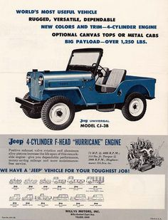cool old jeep Cj Jeep, Jeep Wrangler, Jeep Willys, Vintage Jeep, Vintage Ads, Jeep Grill, Cool Jeeps, Jeep Models, Car Advertising