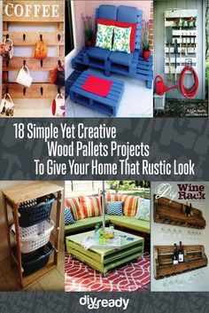 18 Simple Yet Creative Wood Pallets Projects To Give Your Home That Rustic Look
