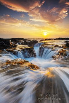 ~~Path To The Sea | water recedes back to the sea in Kona, Hawaii at sunset | by Cj Kale~~