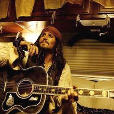 Aye aye, Captain! #johnnydepp #piratesofthecaribbean #Gibson #guitar