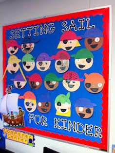 Maybe use for class display : Year 1 Pirates love finding treasure in books. Pirate Bulletin Boards, Kindergarten Bulletin Boards, School Bulletin Boards, Nautical Bulletin Boards, Classroom Window, Future Classroom, Classroom Themes, Pirate Day, Pirate Theme