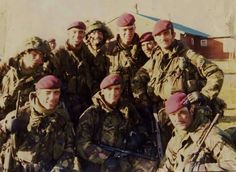 The Paras after the Falklands War is won.