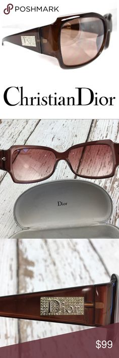 💕SALE💕Christian Dior Night 3 CB6 Tortoise Shell Fabulous Authentic 💕Christian Dior Night 3 CB6 Tortoise Shell Sunglasses with Case Great Condition Christian Dior Accessories Sunglasses