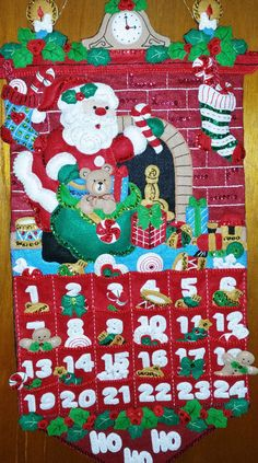 Check out this item in my Etsy shop https://www.etsy.com/listing/484336455/bucilla-86312-13x25-inch-santas-arrival