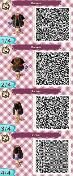Booker DeWitt QR code for Animal Crossing: New Leaf. This took me HOURS.