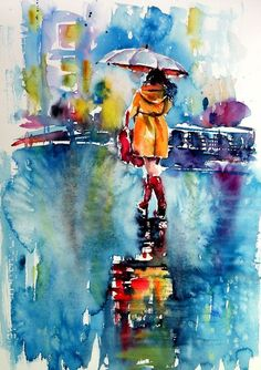 Buy Rainy days - perfect gift idea, Watercolour by Kovács Anna Brigitta on Artfinder. Discover thousands of other original paintings, prints, sculptures and photography from independent artists.