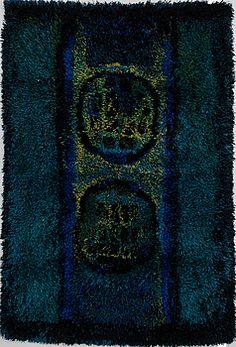 Rya Rug, Wool Rug, Tapestry Weaving, Bukowski, Punch Needle, Wall Hangings, Textile Art, Print Patterns, Scandinavian