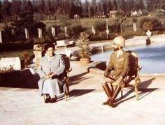 HIM Haile Selassie I and Empress Menen beside the pool