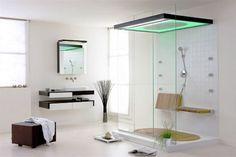 Modern Bathroom Shower Ideas Using LED Shower Rain | Visit http://www.suomenlvis.fi/