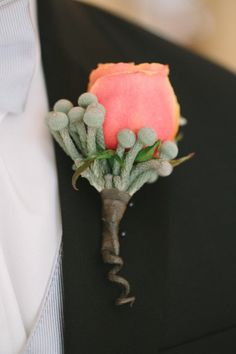 boutonniere - Houston Wedding by Katie Lamb Photography