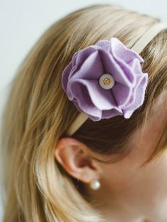 With just a little help from a crafty adult, kids can turn a plain elastic headband into a sweet ruffled-rose headband, perfect for girls big or small.
