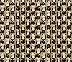 nuns on grey fabric by heidikenney on Spoonflower - custom fabric