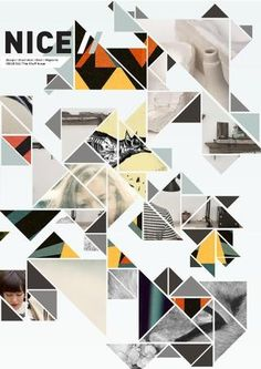 triangles triangles triangles // shape-based photo layout ideas