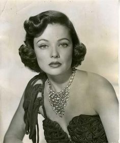Gene Tierney 1940's wearing Joseff of Hollywood jewelry!  Pre-order Joseff of Hollywood: Putting the Tinsel in Tinseltown  By Michele Joseff www.joseffofhollywoodbook.com