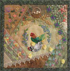 Mrs. McConkey's Garden Crazy Quilt - Susie Williams