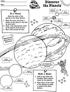 Mrs. Frizzle planet worksheet