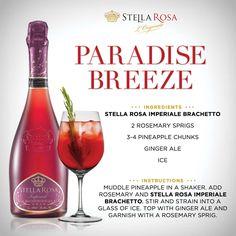 Stella Rosa original recipe: Stella Rosa Paradise Breeze, with Stella Rosa Imperiale Brachetto. For more of our signature specialties, visit http://stellarosawines.com/