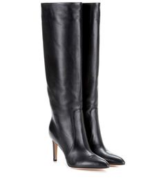 GIANVITO ROSSI Dana Leather Knee-High Boots. #gianvitorossi #shoes #boots