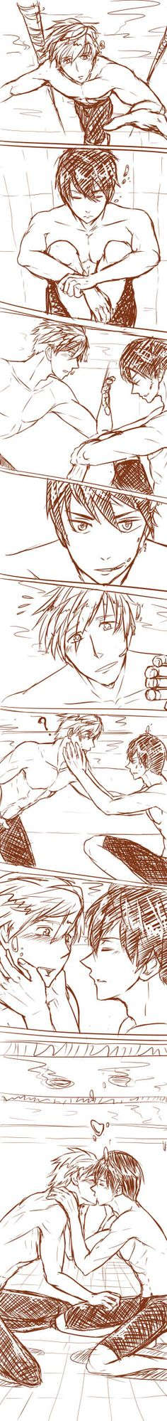 Free! ~~ So sweet! :: Tachibana Makoto & Nanase Haruka