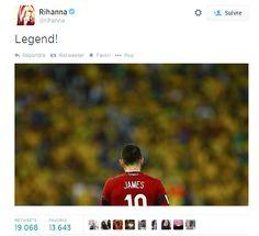 Le tweet de Rihanna sur James - http://www.actusports.fr/110737/tweet-rihanna-james/