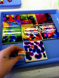 Another site with a tutorial for alcohol ink tiles.  These look totes gorgeous.  I need to try this.