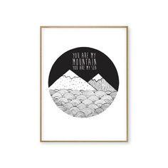 PREORDER BIFFY CLYRO Mountains A4 Illustration Print by OhCorrin