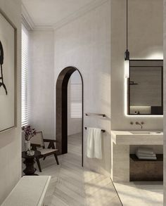 Serene bathrooms Geneva Apartment by Dieter Vander Velpen Architects Serene Bathroom, Bathroom Interior, Home Interior, Interior Decorating, Hallway Decorating, Interior Modern, Gypsy Decorating, Colorful Bathroom, Bathroom Vinyl