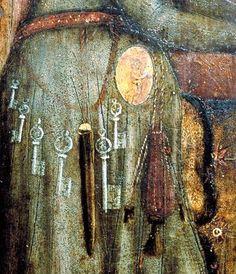 Women's belt 15th Century detail from 'Heimsuchung Mariens', 1425-1435, Czech Republic, Hluboka nad Vlatavou (Alsova Jimoceska Galerie)