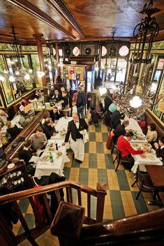 Brasserie Lipp on the Blvd St, Germain, Paris. I first ate there in the early '80's.