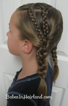 Double Braids into Pocahontas Braids this website has really cute hairstyle ideas!