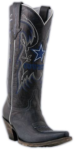 Ladies Lucchese NFL Dallas Cowboys Navy Calf Western Boots M5050