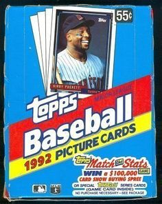 1992 Topps Baseball Cards Unopened Box (36 packs) by Topps. $28.23. 1992 Topps Baseball Cards Unopened Box (36 packs)