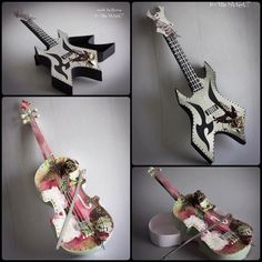 3D Violin and Guitar Gift box set SVG PDF Cricut scan by MySVGHUT
