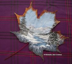 how to paint a maple leaf - Saferbrowser Yahoo Image Search Results Dry Leaf Art, Different Kinds Of Art, Organic Art, Cool Art Projects, Feather Art, Painted Leaves, Tole Painting, Pretty Art, Painting Inspiration