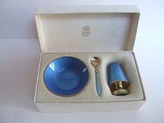 David Andersen Cruet set . Original Box. Silver gilt enamel. Norwegian. Mid Century by Gallery1910 on Etsy https://www.etsy.com/listing/495586971/david-andersen-cruet-set-original-box