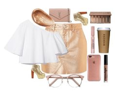 """""""metallic gold"""" by lifeissweet170000 ❤ liked on Polyvore featuring Topshop, Jeffrey Campbell, L'Oréal Paris, Ace, Yves Saint Laurent, Speck, NYX, Urban Decay and Jouer"""