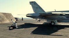 Launching on the flight deck of the USS Carl Vinson CVN-70