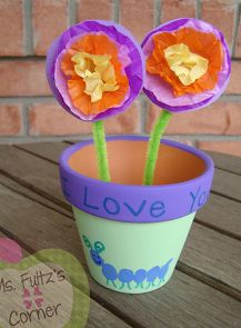 Cute Mother's Day Flower Pot and Flowers Craft #MyPerfectMothersDay
