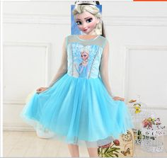 New Style Frozen Princess Queen Elsa Anna Cosplay Costume Party Fancy Dress 014…