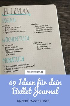 Bullet Journal Ideen Seite: Unsere Masterliste mit insgesamt 69 Bullet Journal I… - Baby Dekor Bullet Journal Tracker, Bullet Journal Inspo, Future Log Bullet Journal, Bullet Journal Wishlist, Bullet Journal Cleaning, Minimalist Bullet Journal, Bullet Journal 2019, Bullet Journal Spread, Ideas Scrapbook