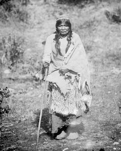 Hupa Woman in Partial Native Dress with Ornaments - 1907